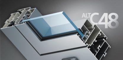 Холодные окна Alutech ALT c48