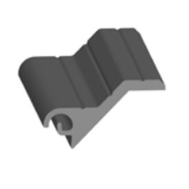 Профиль роллетный экструдированный AER55F/SCR Белая