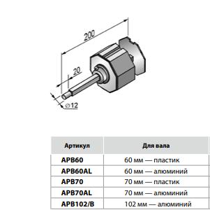 Капсула регулируемая APB70AL