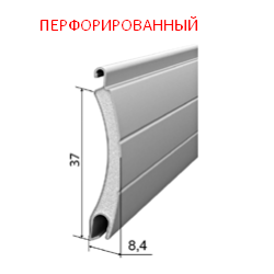 Профиль роллетный роликовой прокатки AR/377