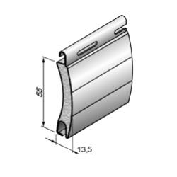 Профиль роллетный роликовой прокатки ARH/55