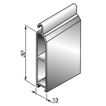 Профиль концевой универсальный ESU13x50