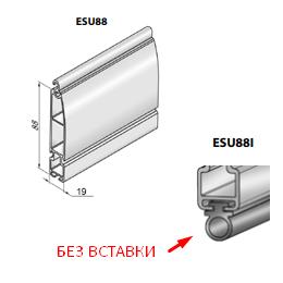 Профиль концевой универсальный ESU88