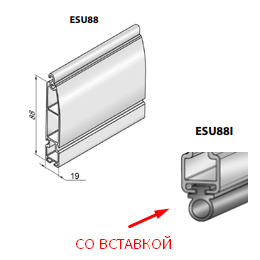 Профиль концевой универсальный ESU88I