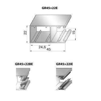 Шина направляющая GR45x22BE