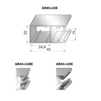 Шина направляющая GR45x22I24