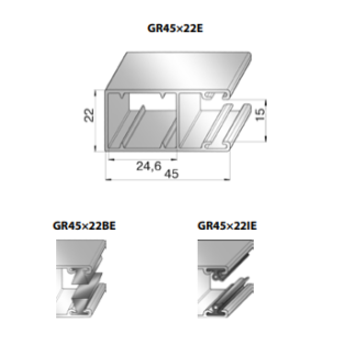 Шина направляющая GR45x22IE
