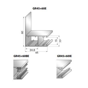 Шина направляющая GR45x60I24