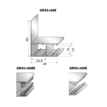 Шина направляющая GR45x60E