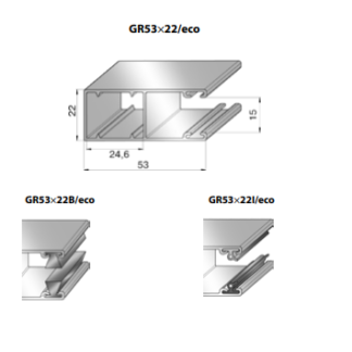 Шина направляющая GR53x22I/eco