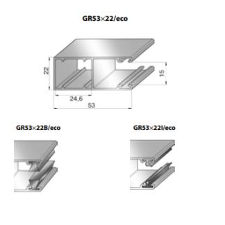 Шина направляющая GR53x22B/eco
