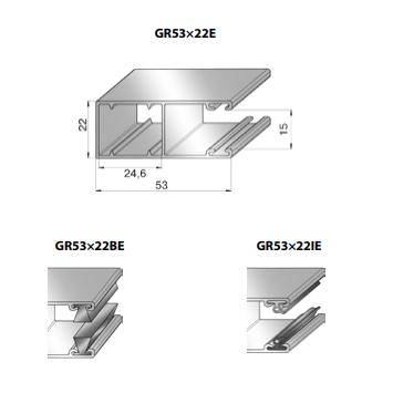 Шина направляющая GR53x22I24