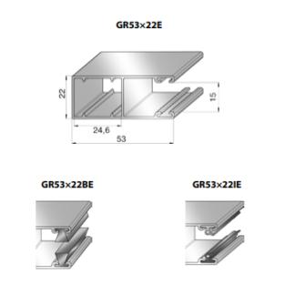 Шина направляющая GR53x22IE