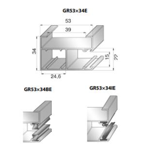 Шина направляющая GR53x34E