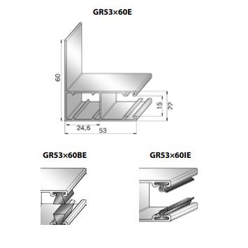 Шина направляющая GR53x60BE