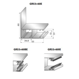 Шина направляющая GR53x60IE
