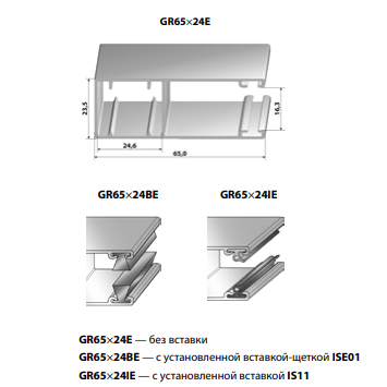 Шина направляющая GR65x24IE
