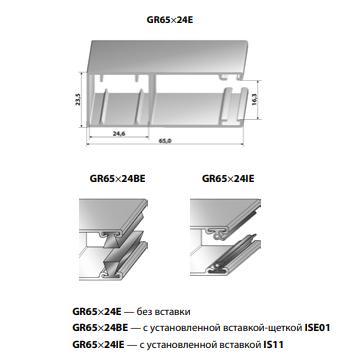 Шина направляющая GR65x24BE