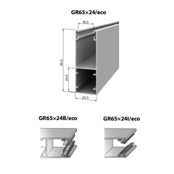 Шина направляющая GR65x24B/eco