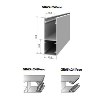 Шина направляющая GR65x24I/eco