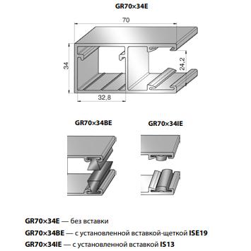 Шина направляющая GR70x34BE