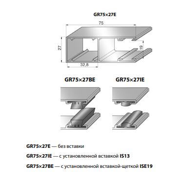 Шина направляющая GR75x27IE
