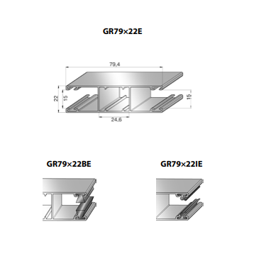 Шина направляющая GR79x22IE