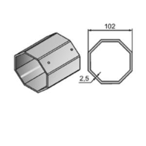 Вал октогональный RT102x2,5