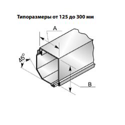 Короб защитный роллетный SB45/250