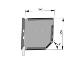 Крышка боковая роллетная стальная SF360