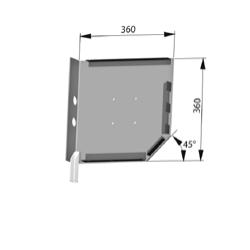 Крышка боковая роллетная стальная SF360m